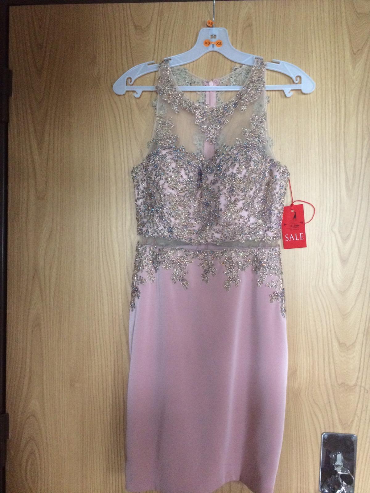 Popolnočné šaty champagne - Obrázok č. 3
