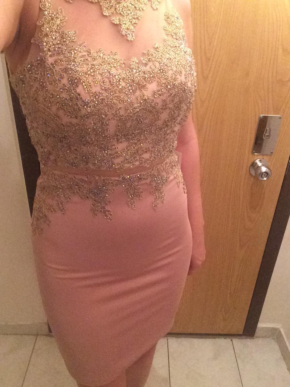 Popolnočné šaty champagne - Obrázok č. 4