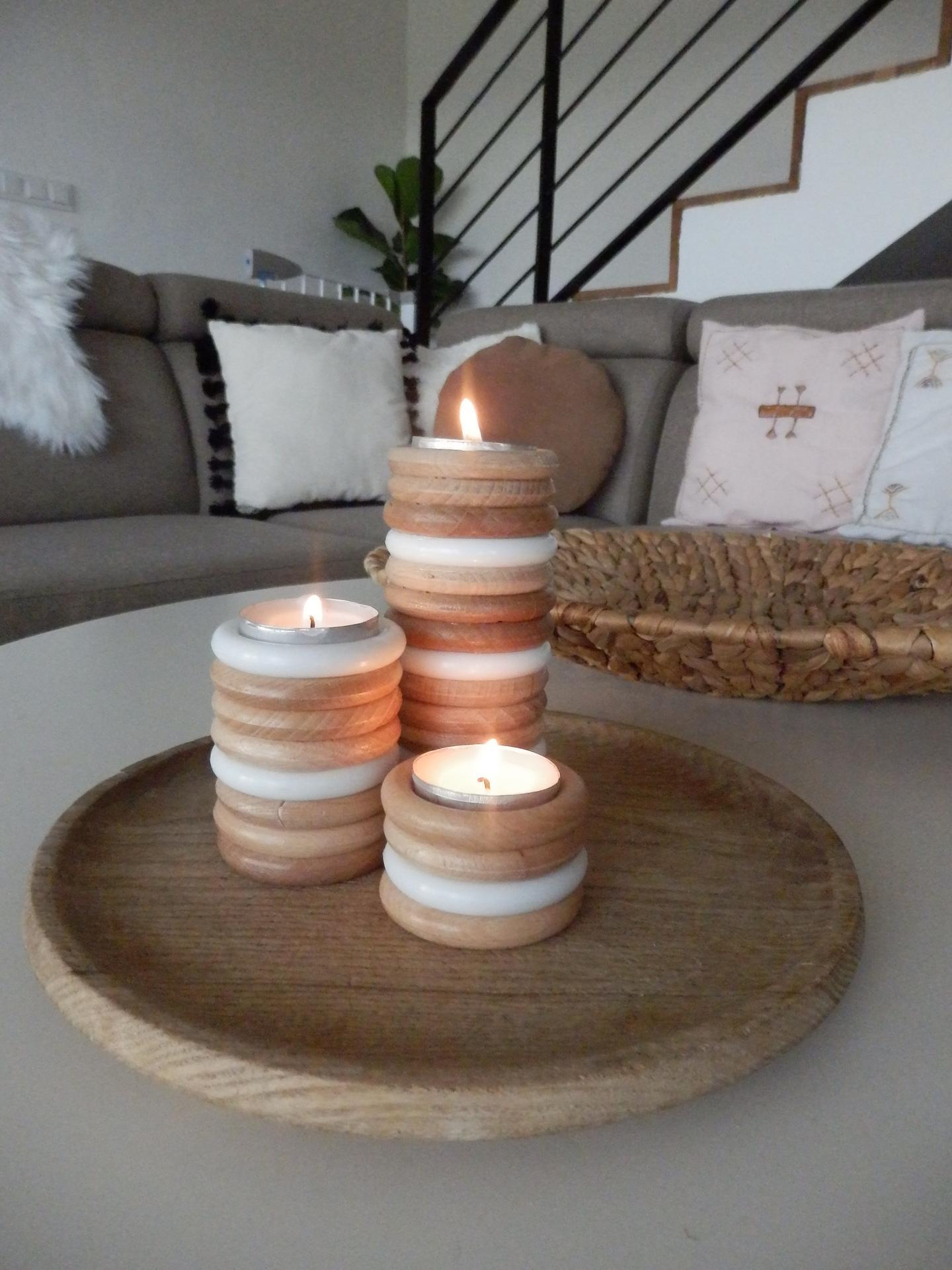 Tvoření je radost - DIY svícny z kroužků na závěsy :-)