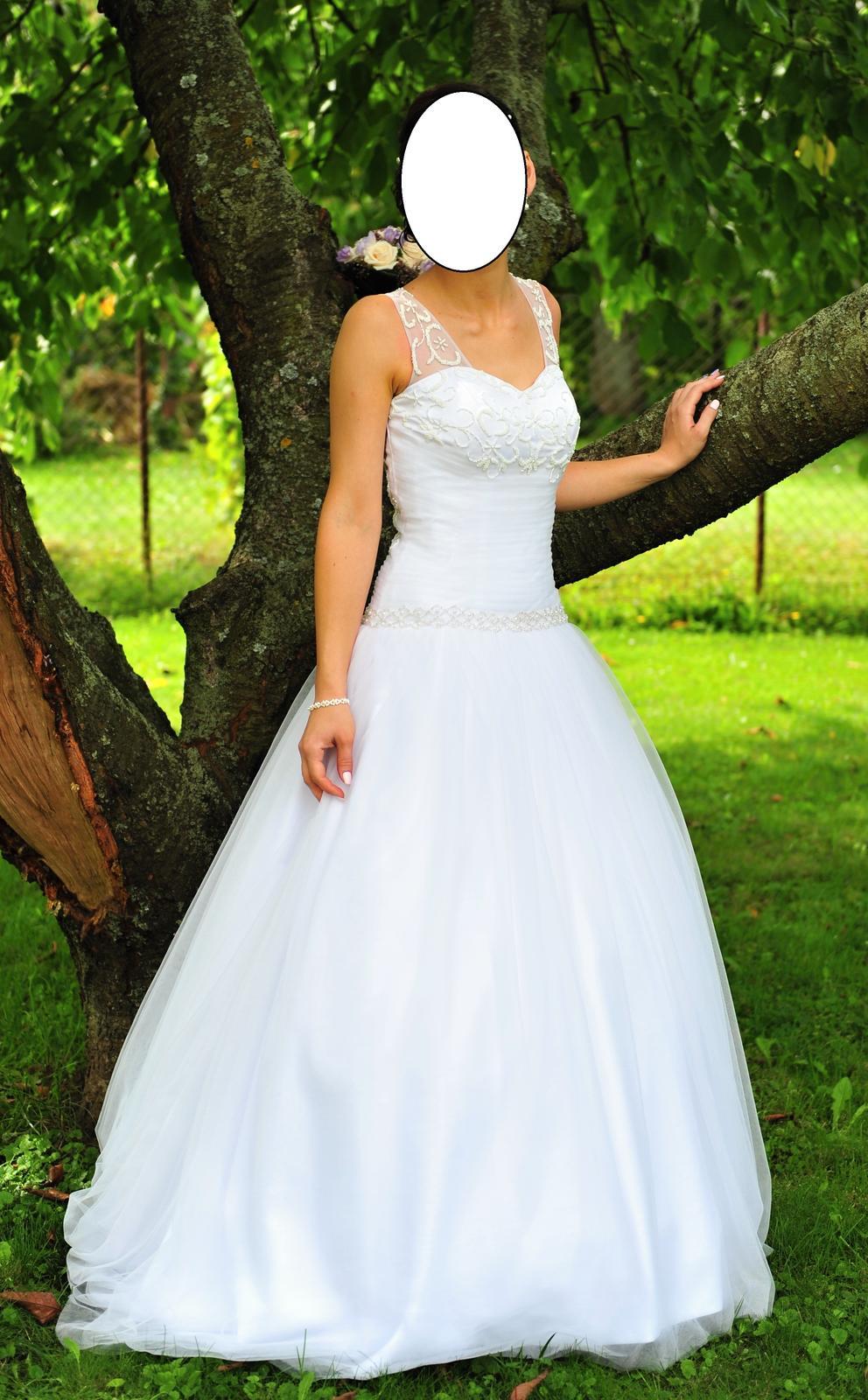 Svadobné tylové šaty - Obrázok č. 2