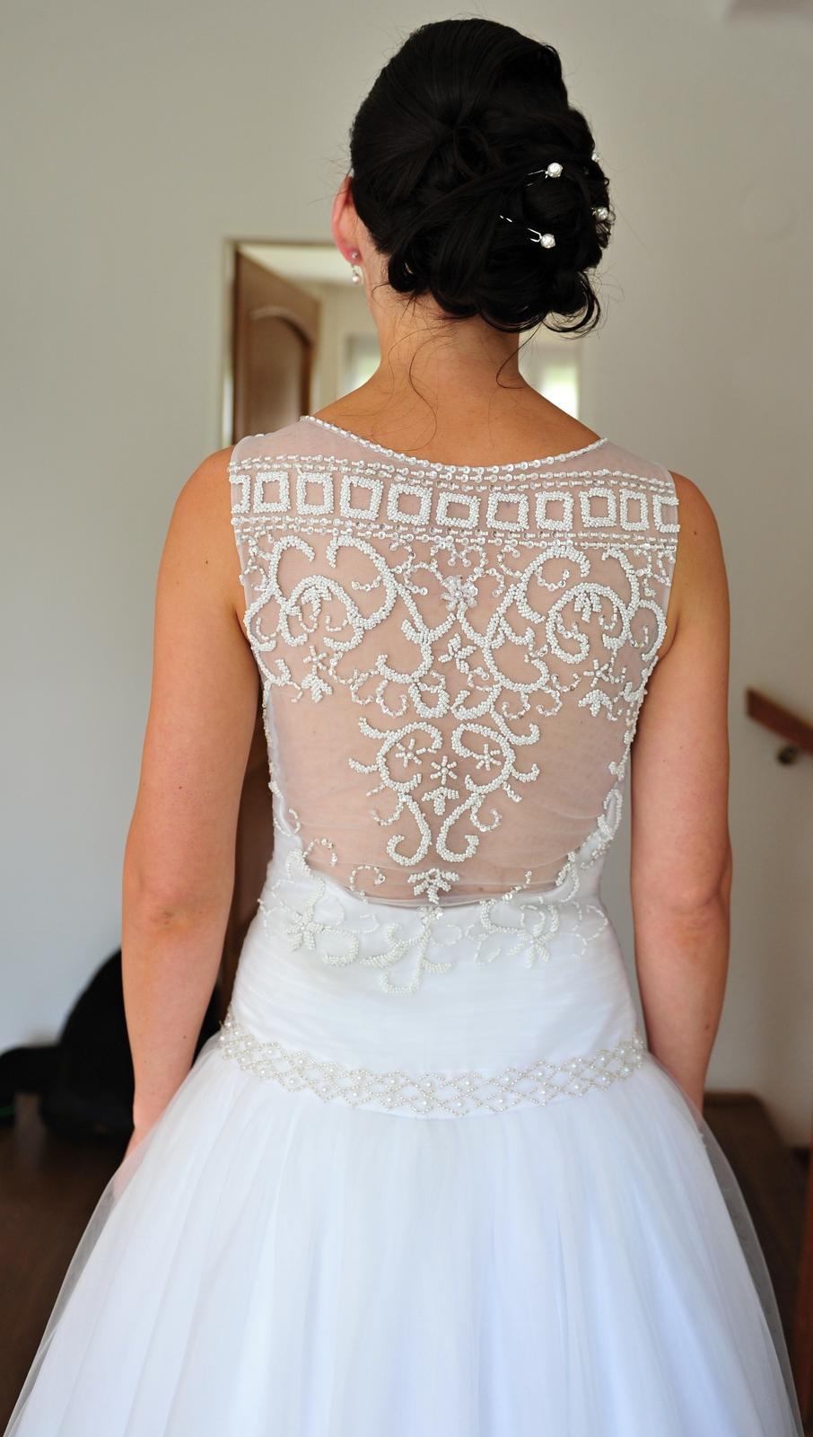 Svadobné tylové šaty - Obrázok č. 3