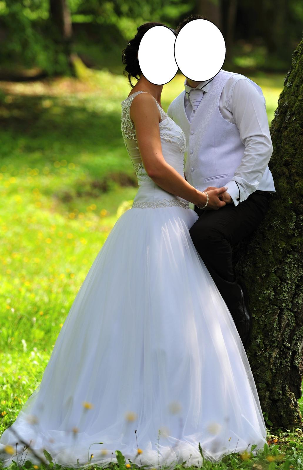 Svadobné tylové šaty - Obrázok č. 4