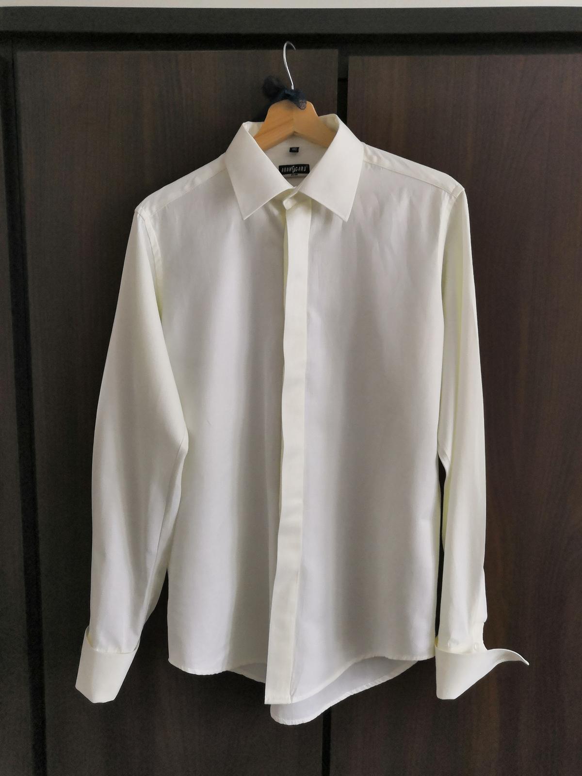 svatební košile, manžetové knoflíčky, krytá léga - Obrázek č. 1