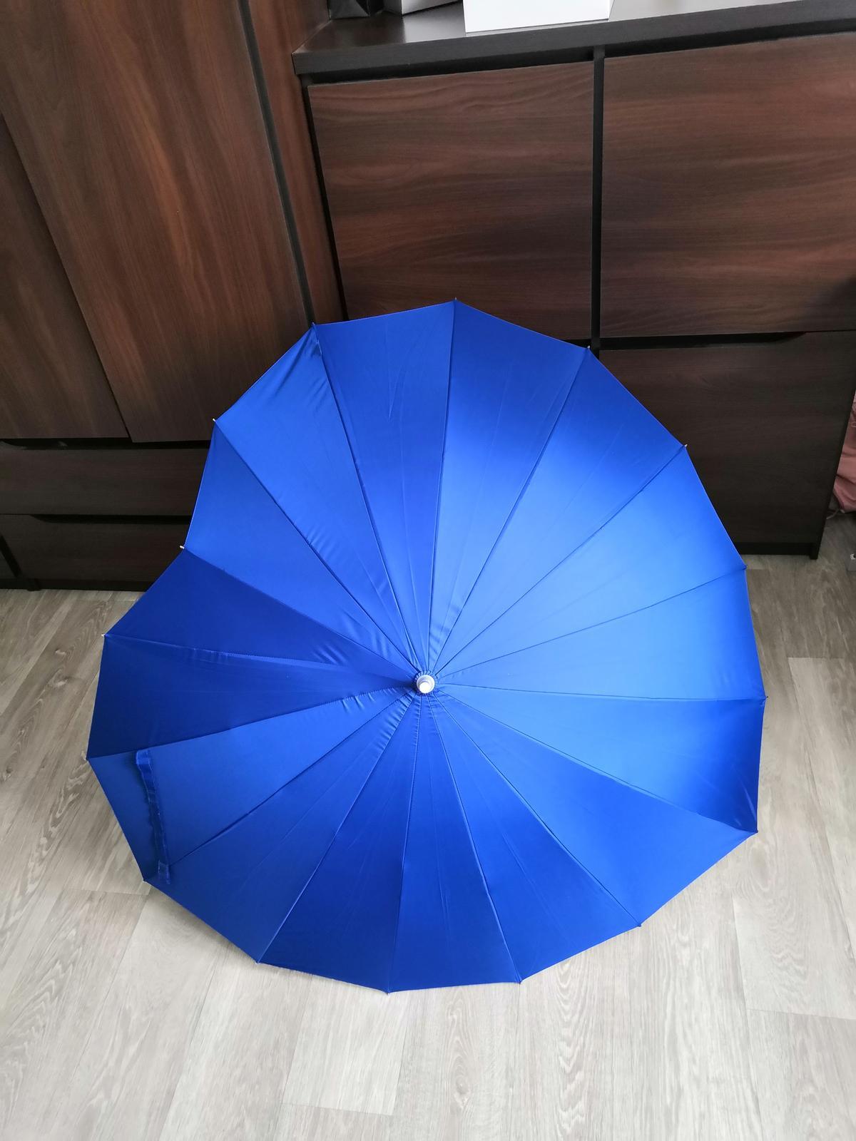 deštník srdce tmavě modrý (navy) - Obrázek č. 1