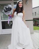 Svatební saty i pro těhotnou, 44