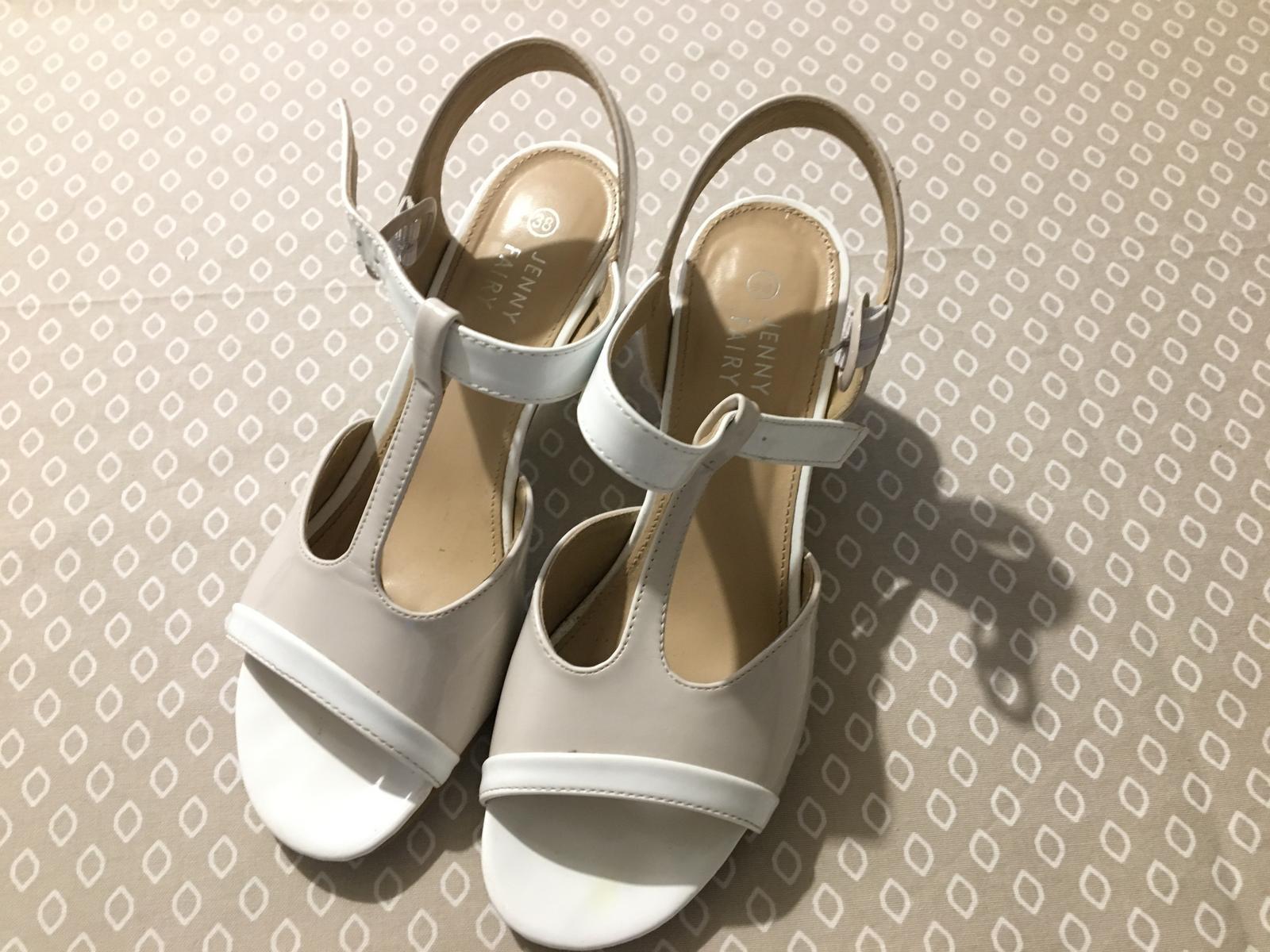 Svatební boty 38 široký podpatek - Obrázek č. 1