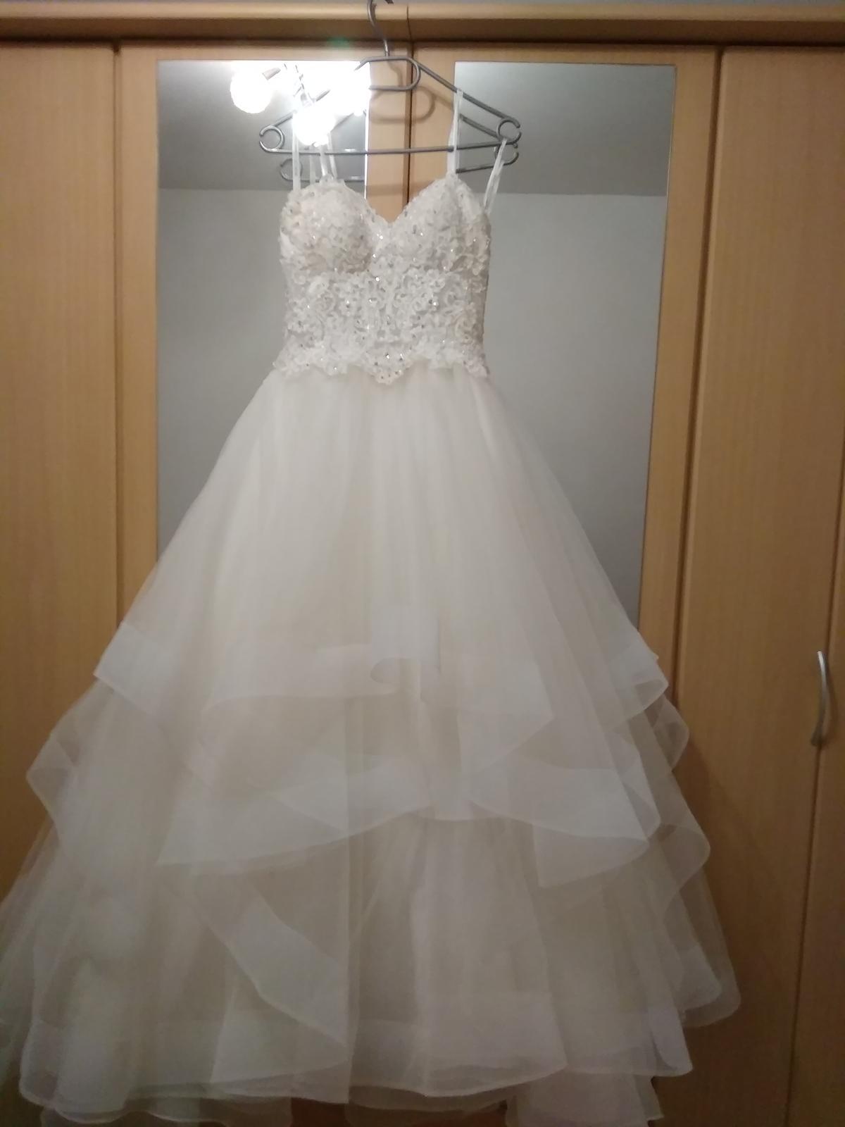 Značkové svatební šaty Mori Lee 36-38, 40-42 - Obrázek č. 1