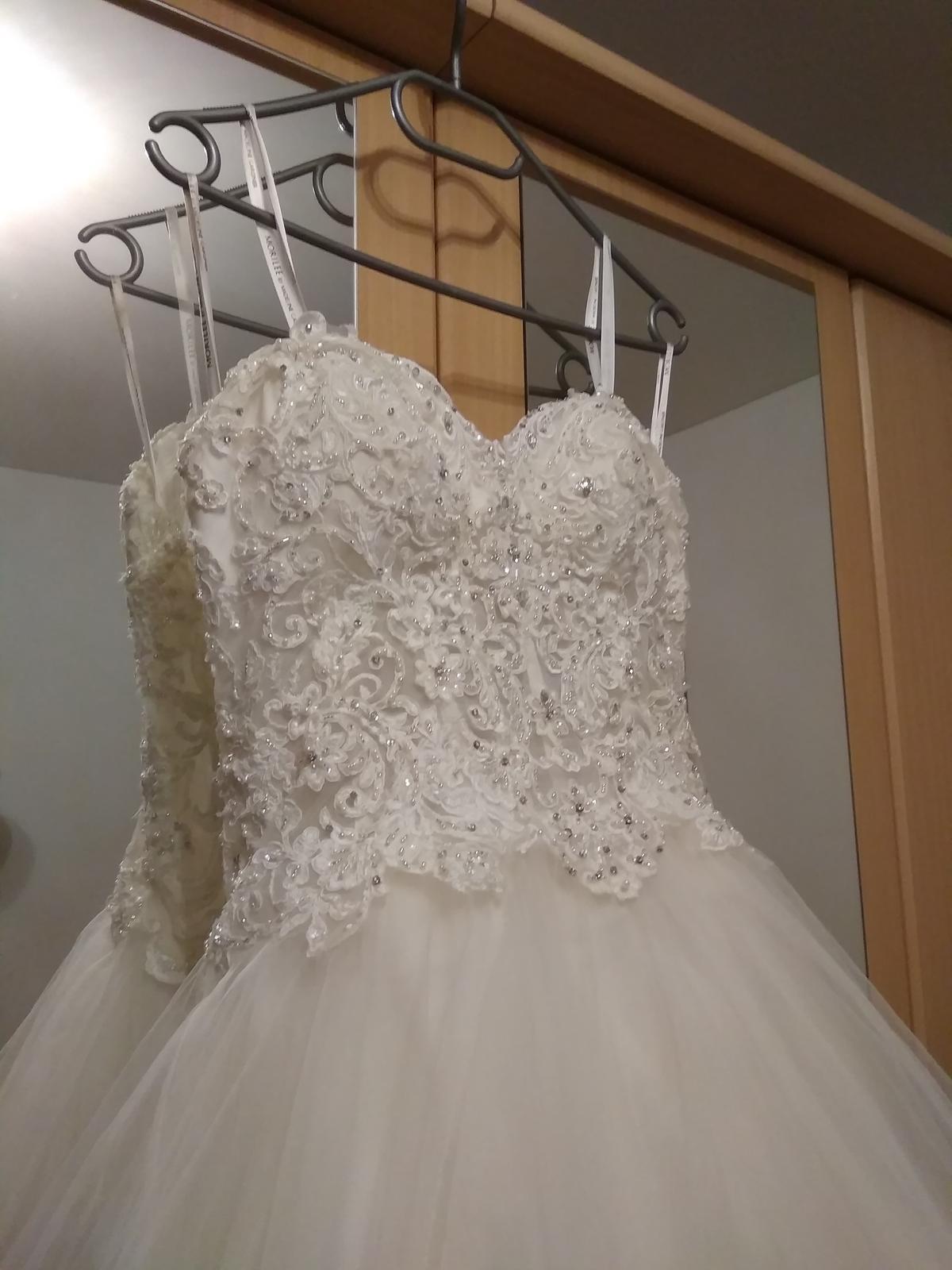 Značkové svatební šaty Mori Lee 36-38, 40-42 - Obrázek č. 2