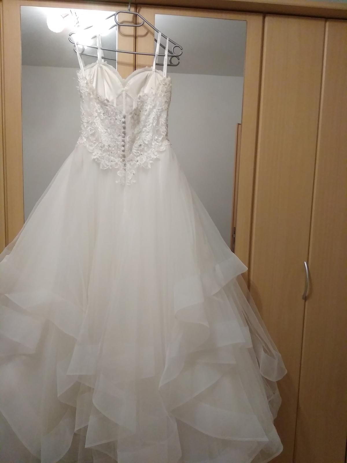 Značkové svatební šaty Mori Lee 36-38, 40-42 - Obrázek č. 3