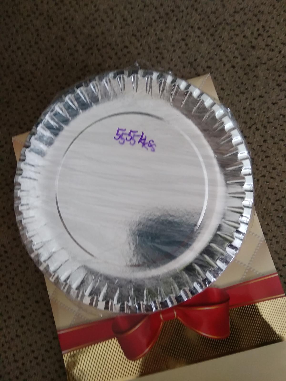 tácky kulaté stříbrné 22.5 cm, 55ks - Obrázek č. 1