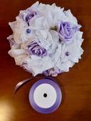 Svatební ozdoba kytice na auto -,