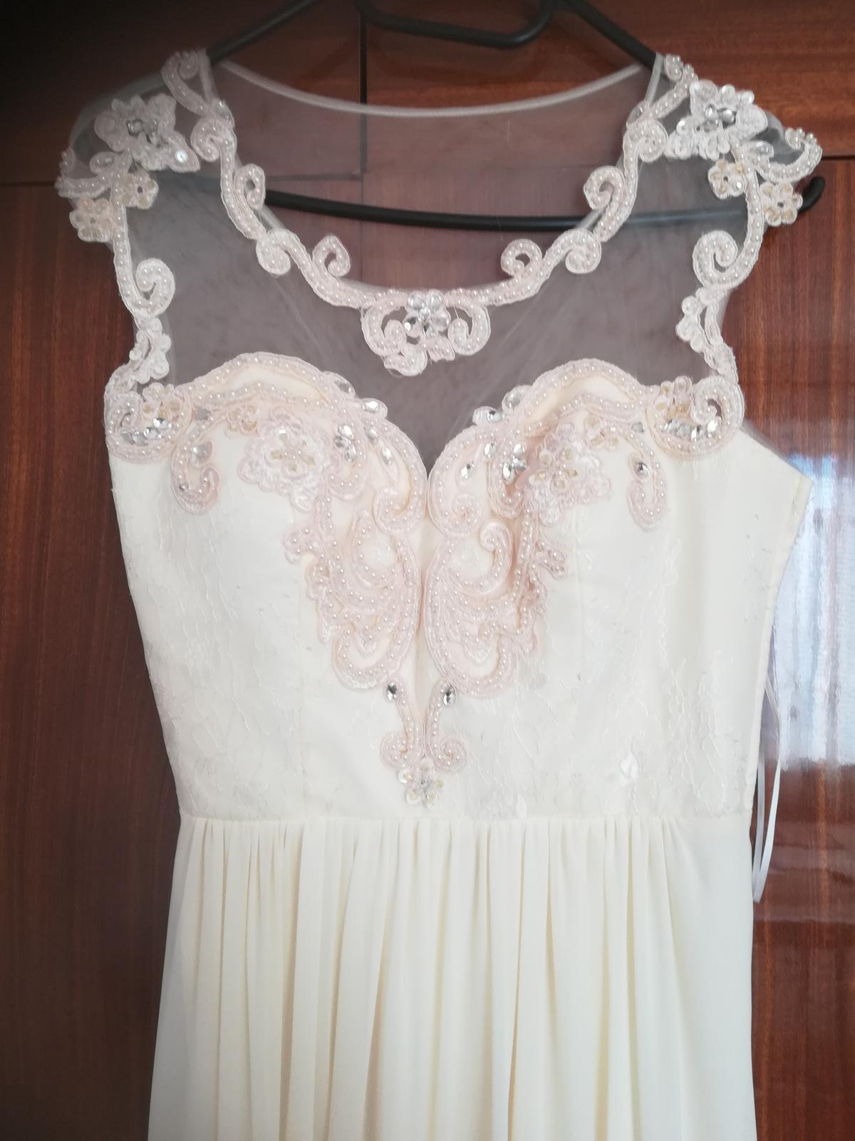 Nové  smotanové šaty veľkosť xs - Obrázok č. 4