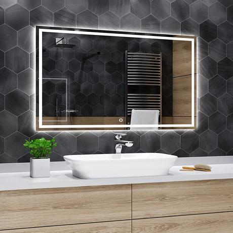 Koupelnové zrcadlo s LED 110x60 cm ATLANTA - Obrázek č. 1