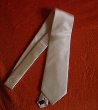 A miláčkovo kravatka, jen ještě nevíme, jestli si vezme tuhle nebo pořídíme jinou, je smetanová, přesně ladí k šatům, ale zdá se mi do světlého obleku moc nevýrazná a navíc neladí k šatům :-( ještě uvidíme