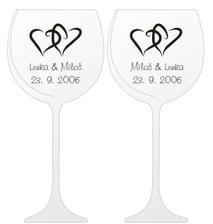 Takhle budou vypadat naše svatební skleničky, už jsou taky ve výrobě