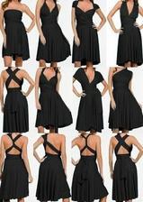 Střih šatů pro družičky -  mnoho různých možností, jak tyto JEDNY! šaty nosit + krásné + sluší každému + budou jim šité přesně na míru...