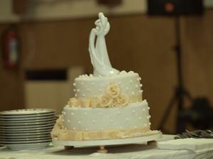 hlavna torta, mala byt v smotanovej farbe, ale nevadi chutovo bola vyborna :)