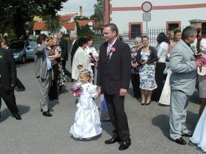 ženich s družičkou Štěpánkou