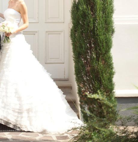 Hodvábne svadobné šaty s doplnkami (36-38) - Obrázok č. 3