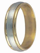 prsteny kombinace bílé a žluté zlato