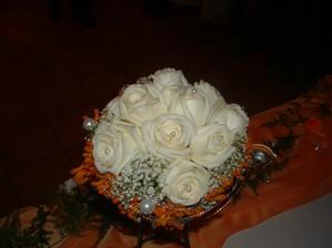 detail svadobnej kytice - pekné však?