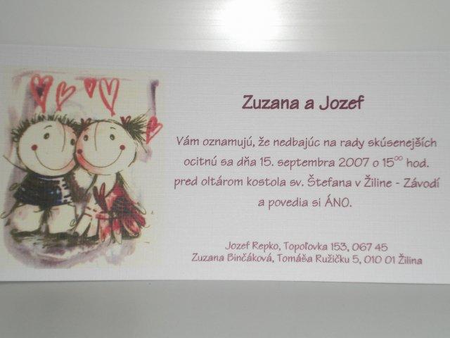 Zuzalik - Takéto oznámka máme pre kámošov :))