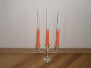 Stojan+sviečky na hlavný stôl