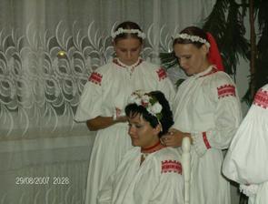 Čepčenie, ďakujem Lenke a Zuzke a všetkým dievčatam zo Stavbára