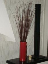 Krasna vaza a susene kvety
