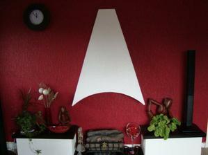 A aj obyvacku sme malovali..krasna cervena