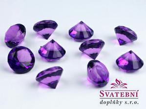 diamantky fialové