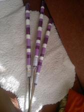 svíčky na bambusové tyčce na venkovní použití :)