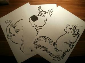 vytisklé obrázky na vymalování pro děti :)