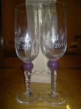 naše skleničky ze sklárské huti na Hluboké :)