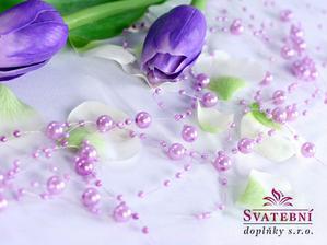 lila perličky na silonu