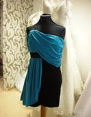 modro-čierne šaty, 36
