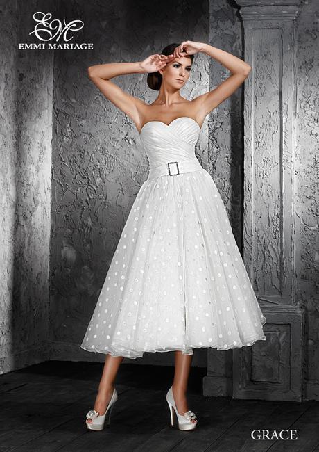 Akce 65% sleva na nádherné retro svatební-společenské šaty s puntíky - Obrázok č. 1