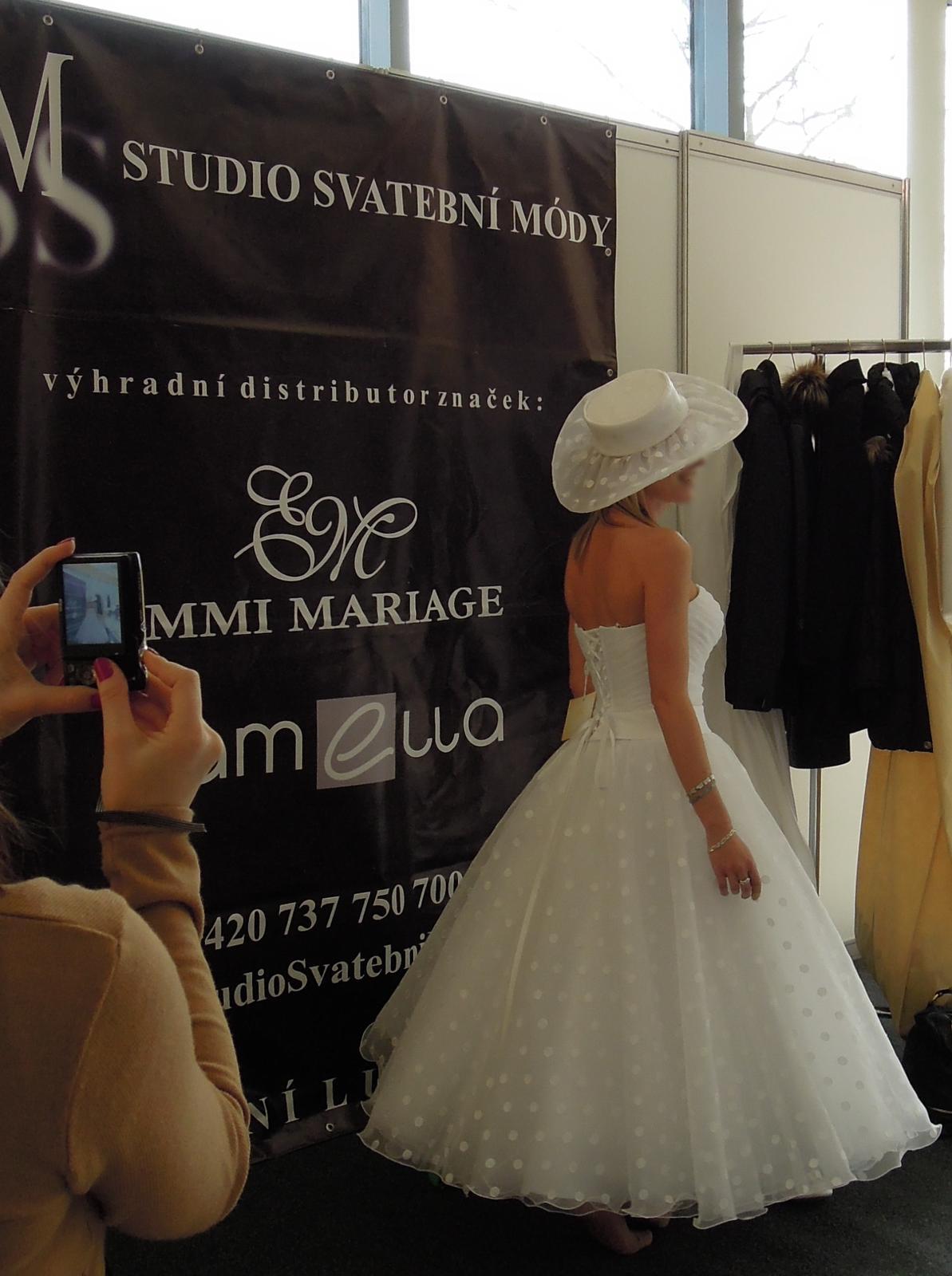 Akce 65% sleva na nádherné retro svatební-společenské šaty s puntíky - Obrázok č. 2