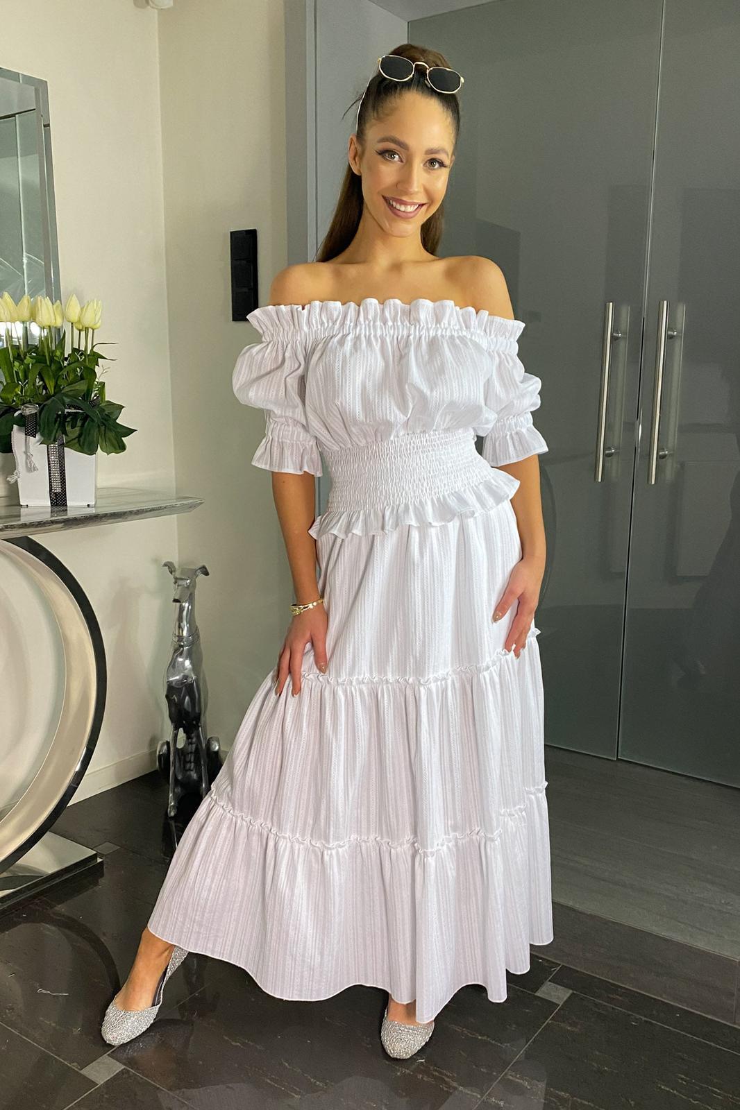 Free bílé svatební, popůlnoční šaty - Obrázok č. 1