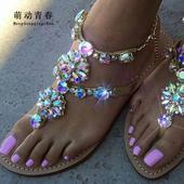 Zlate sandalky s kamenmi, 37