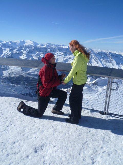 Moje predstavy... - požiadanie o ruku v Alpach..:-D