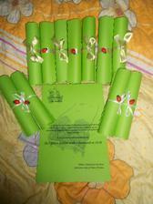 ještě musíme pár srolovat :) ale ty stače za měsíc až se dokoupí ta zelená stužka :)