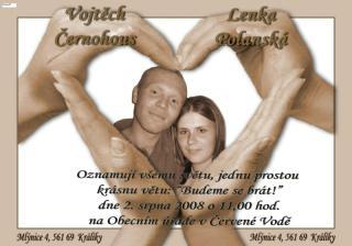 Svatební oznámko:-)