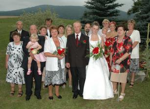 Všichny svatebčané:-)