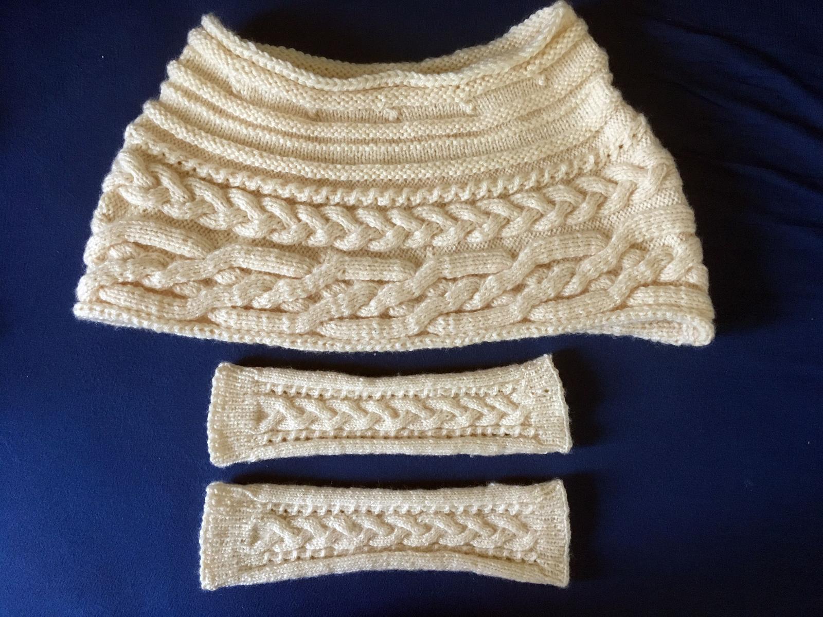 Pletená štola a návleky - Obrázek č. 1