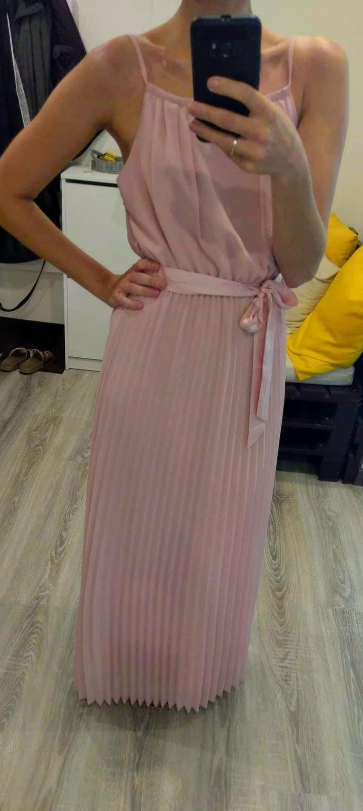 Ružové plisované šaty - Obrázok č. 1