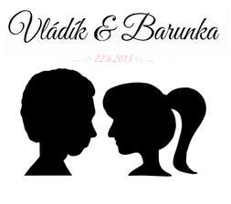 Naše svatební logo :-) nakonec to nebylo tak těžké... a na obrázku jsme opravdu my dva :-) Bude na dortu, na oznámení i na vývazcích :-)