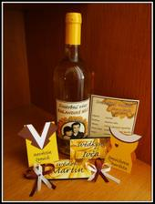 Svatebni vino, menu, jmenovky, vyvazky...