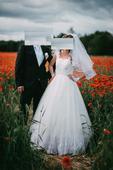 Princeznovske šaty biela Ivory, 38