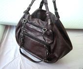 Dolce&Gabbana luxusná bronzová kožená kabelka, L